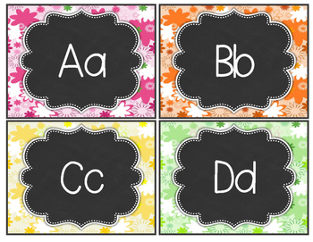 Daisy Delights Alphabet Word Wall Headers