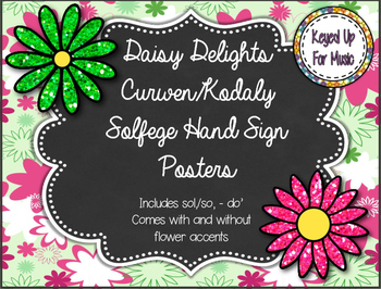 Daisy Delights Kodaly/Curwen Hand Sign Posters