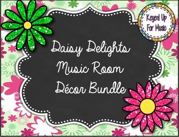 Daisy Delights Music Room Decor Bundle