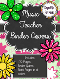 Daisy Delights Music Teacher Binder Covers: