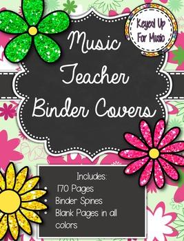 Daisy Delights Music Teacher Binder Covers:
