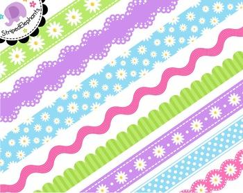 Daisy Digital Ribbon Borders