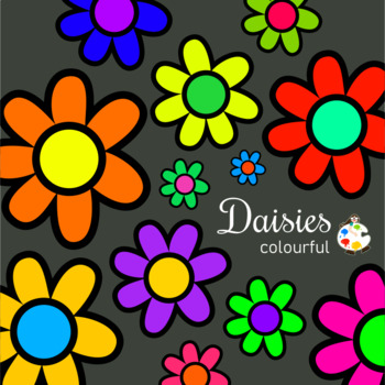 Daisy Flower & Border ClipArt