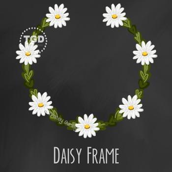 Daisy Flower Frame Printable Tracey Gurley Designs
