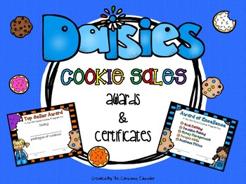 Daisy Girl Scout Cookie Awards and Certificates