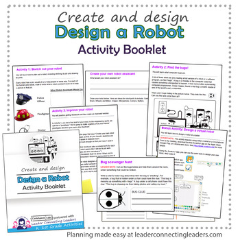 Daisy Girl Scout Design a Robot Activity Booklet