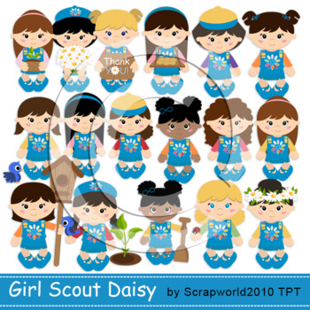 Daisy Girl Scout New clipart+paper