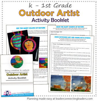 Daisy Girl Scout Outdoor Art Maker Activity Booklet