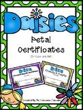 Daisy Girl Scout Petal Certificates