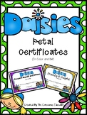 Daisy Girl Scout Petal Certificates