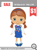Daisy Girl Scout clip art digital graphics