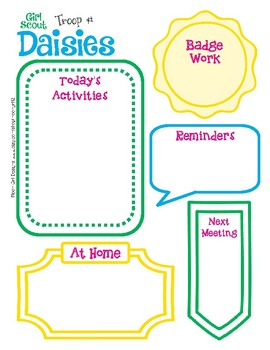 daisy meeting activity planner girl scouts editable printable pdf