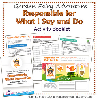Daisy Responsible For What I Say And Do Petal Fairy Activity Booklet