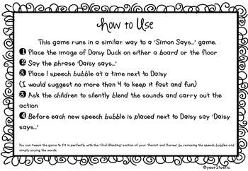 Daisy Says- Phase 2, 3 and 4 Phonics UK