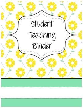 Daisy Student Teaching Binder Cover (Editable)