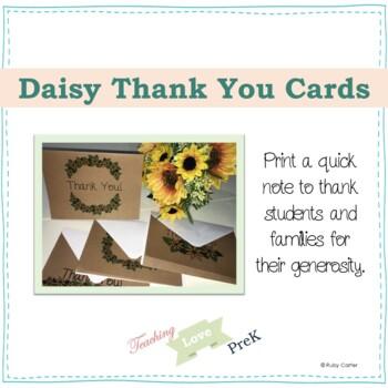 Daisy Thank You Cards