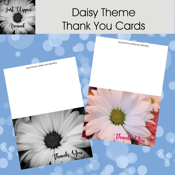 Daisy Themed Thank You Cards