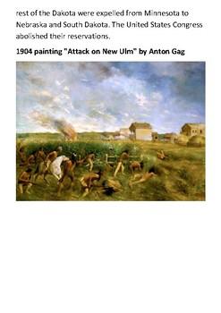 Dakota War of 1862 Handout