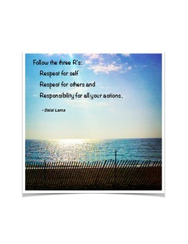 Dalai Lama Quote - The Three Rs - French and English