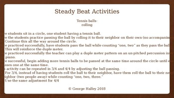 Dalcroze Inspired Steady Beat and Mixed Meter Activities