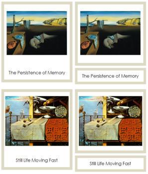 Dali (Salvador) 3-Part Art Cards - Color Borders