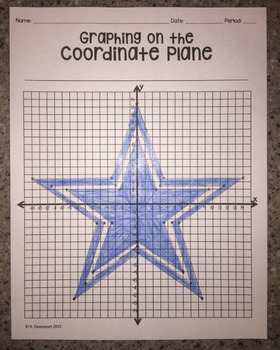 Dallas Cowboys (Graphing on the Coordinate Plane/ Mystery Picture)