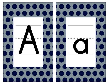 Dallas Cowboys Inspired Blue & Silver Alphabet/Number Cards-Word Walls-Editable