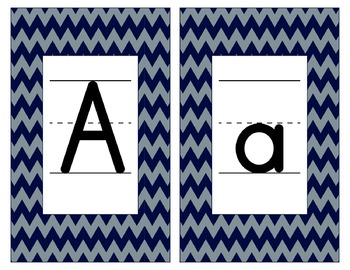 Dallas Cowboys Inspired Blue & Silver Alphabet/Number Card