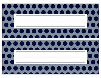 Dallas Cowboys Inspired Blue and Silver Editable Name Plates/Word Wall