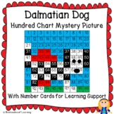 Dalmatian Dog Hundred Chart Mystery Picture with Number Ca