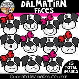 Dalmatian Faces Clipart  {101 Days of School Clipart}