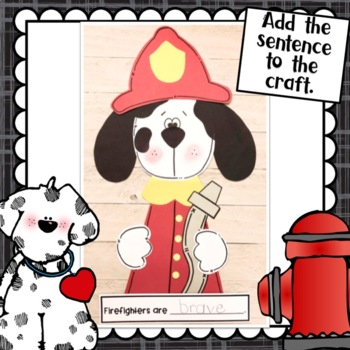 Dalmatian Firefighter Fire Safety Craft, Class Book and Poem