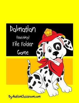 Dalmatian Matching File Folder Game