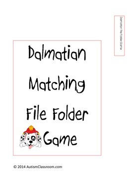 Dalmatian Matching File Folder Game