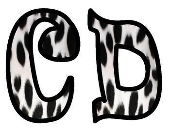 Dalmatian Themed Bulletin Board Letters