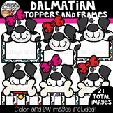 Dalmatian Toppers and Frames Clipart  {101 Days of School Clipart}