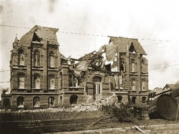 Damage from the Galveston Hurricane