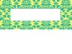 Damask Bright Colors Nametag Labels