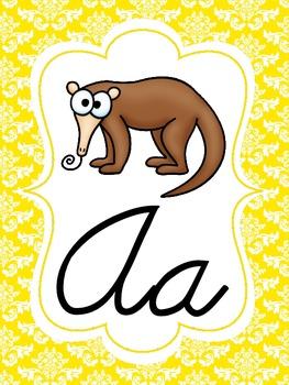 Damask Cursive Alphabet Set