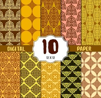 Damask Digital Paper, DAMASK CRAFT PAPERS, digital papers,