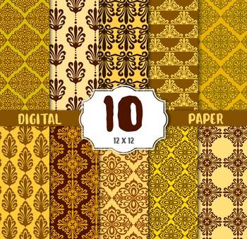 Damask Digital Paper, DAMASK CRAFT PAPERS, digital papers