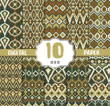 Damask Digital Paper, DAMASK CRAFT PAPERS, digital papers