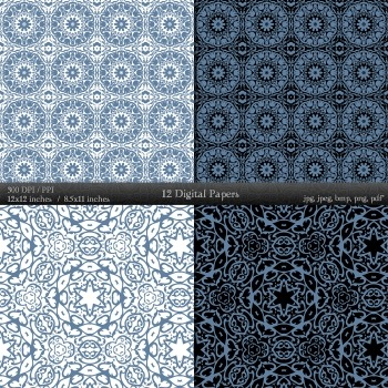 Damask Making Instant Download Card Embellishment Lace Ornate Variety Clipart A4