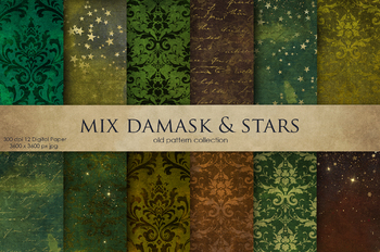 Damask & Star Digital Paper