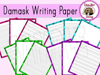Damask: Writing Paper (Blank, Lined, Primary Lined)