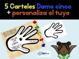 Dame cinco diferentes carteles y personaliza el tuyo. Español