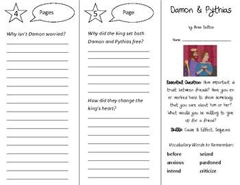 Damon and Pythias Trifold - Open Court 3rd Grade Unit 1 Lesson 3