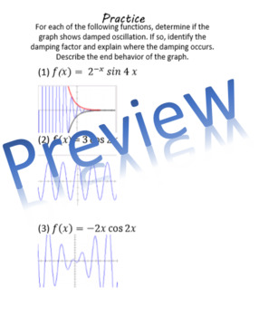 Damped Trigonometric Functions Book