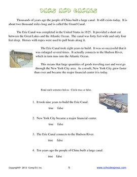 Dams and Canals Thematic Unit