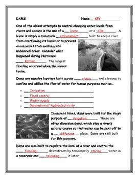 Dams and Levees Note-Taking Guide